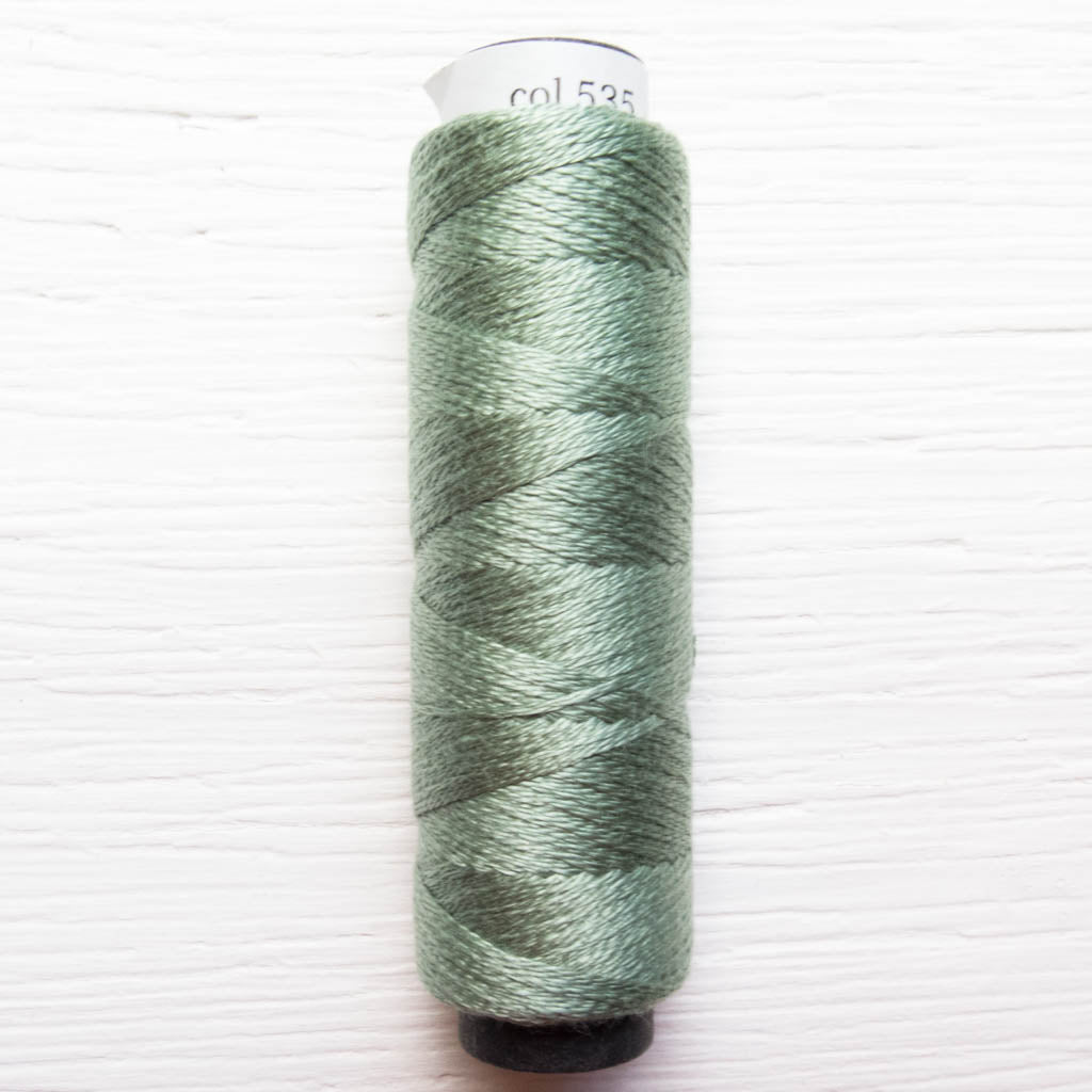 COSMO 3-Strand Embroidery Floss Spool - Piquant Green (535) Floss - Snuggly Monkey