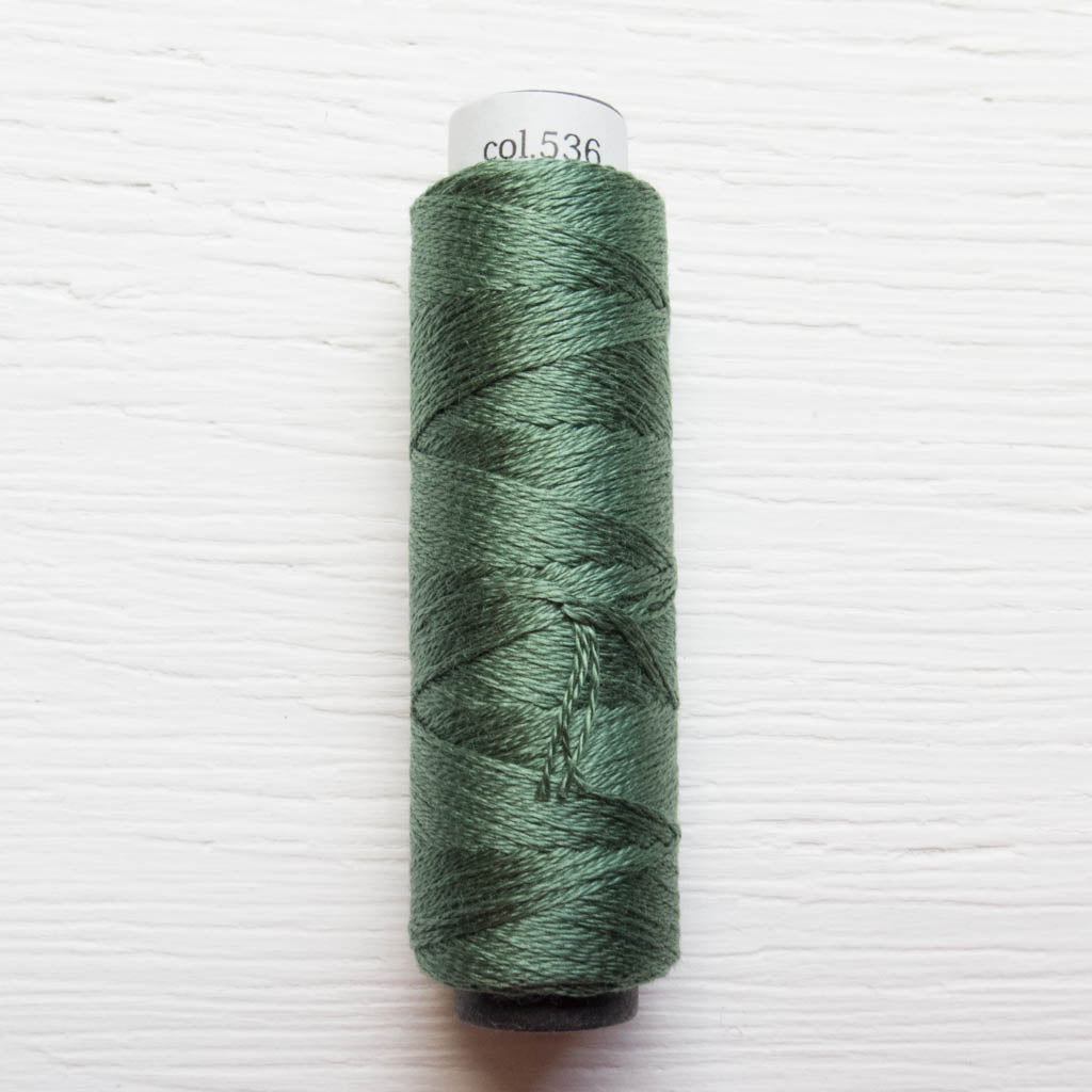 COSMO 3-Strand Embroidery Floss Spool - Vineyard Green (536) Floss - Snuggly Monkey