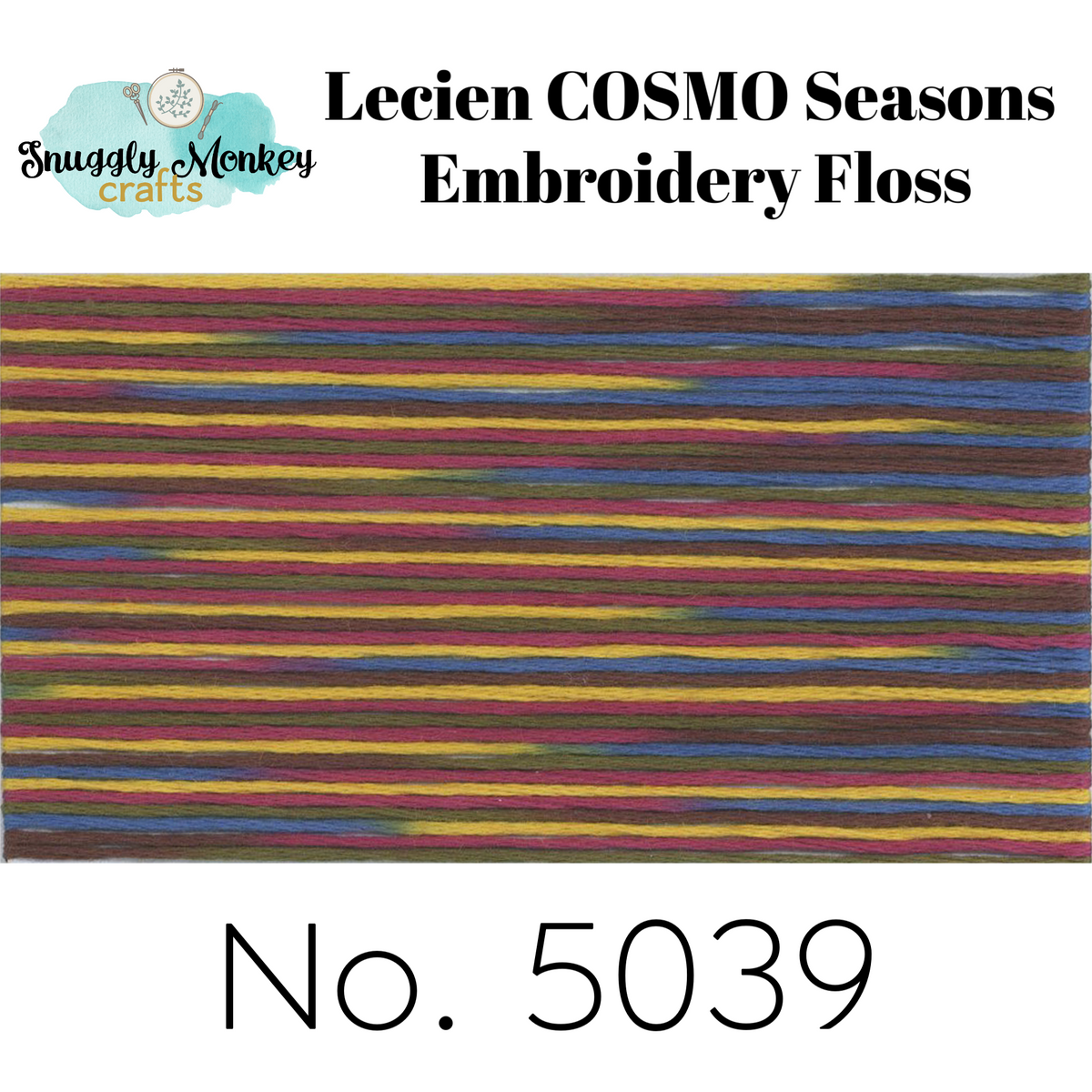 COSMO Seasons Variegated Embroidery Floss - 5036, 5037, 5038, 5039, 5040 Floss - Snuggly Monkey