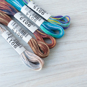 COSMO Seasons Variegated Embroidery Floss - 9011, 9012, 9013, 9014, 9015 Floss - Snuggly Monkey