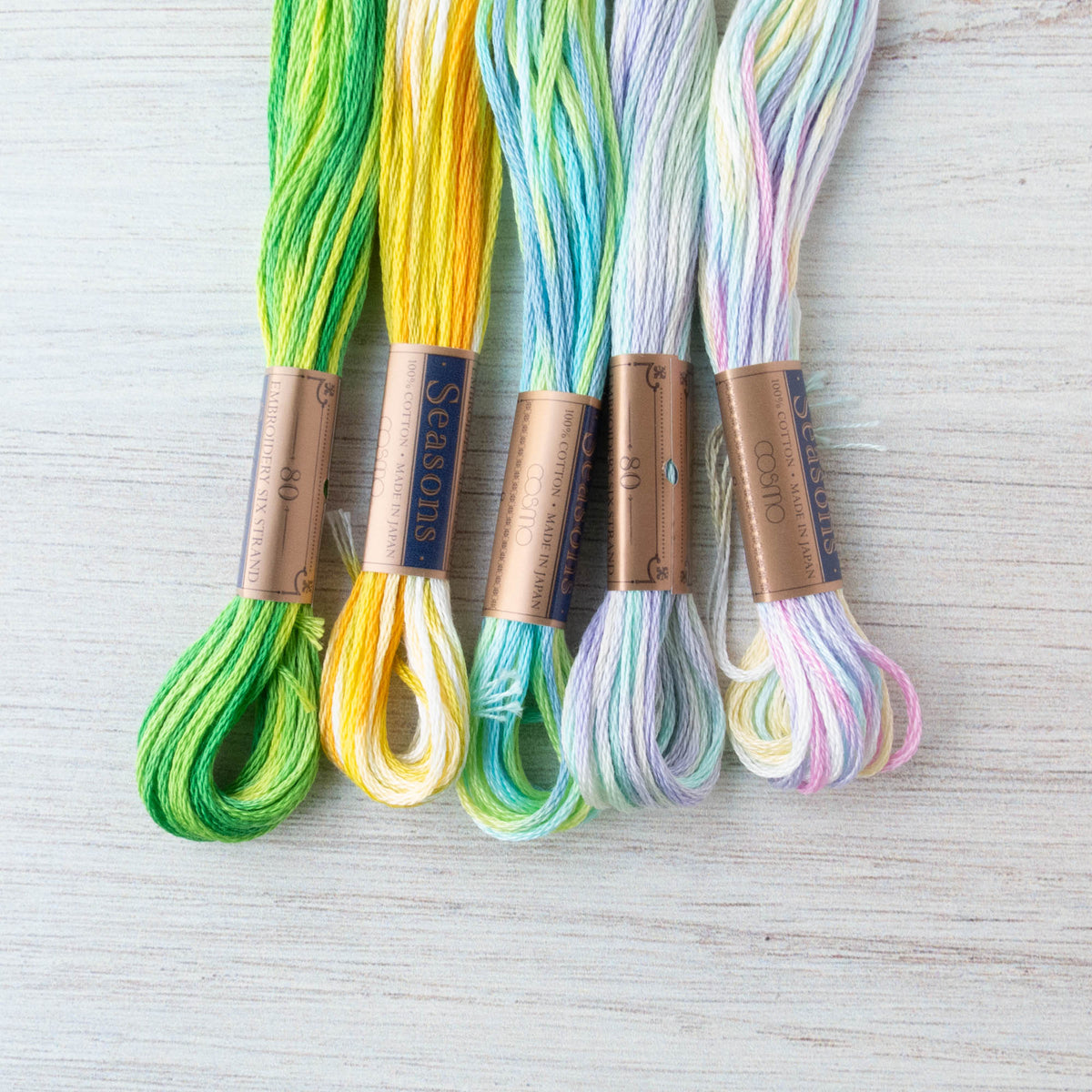 COSMO Seasons Variegated Embroidery Floss - 9001, 9002, 9003, 9004, 9005 Floss - Snuggly Monkey