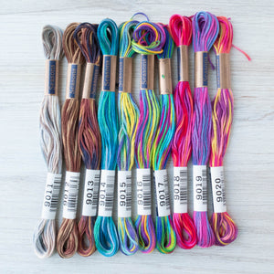 Cosmo Seasons Variegated Embroidery Floss Set - 9000 Series Collection II