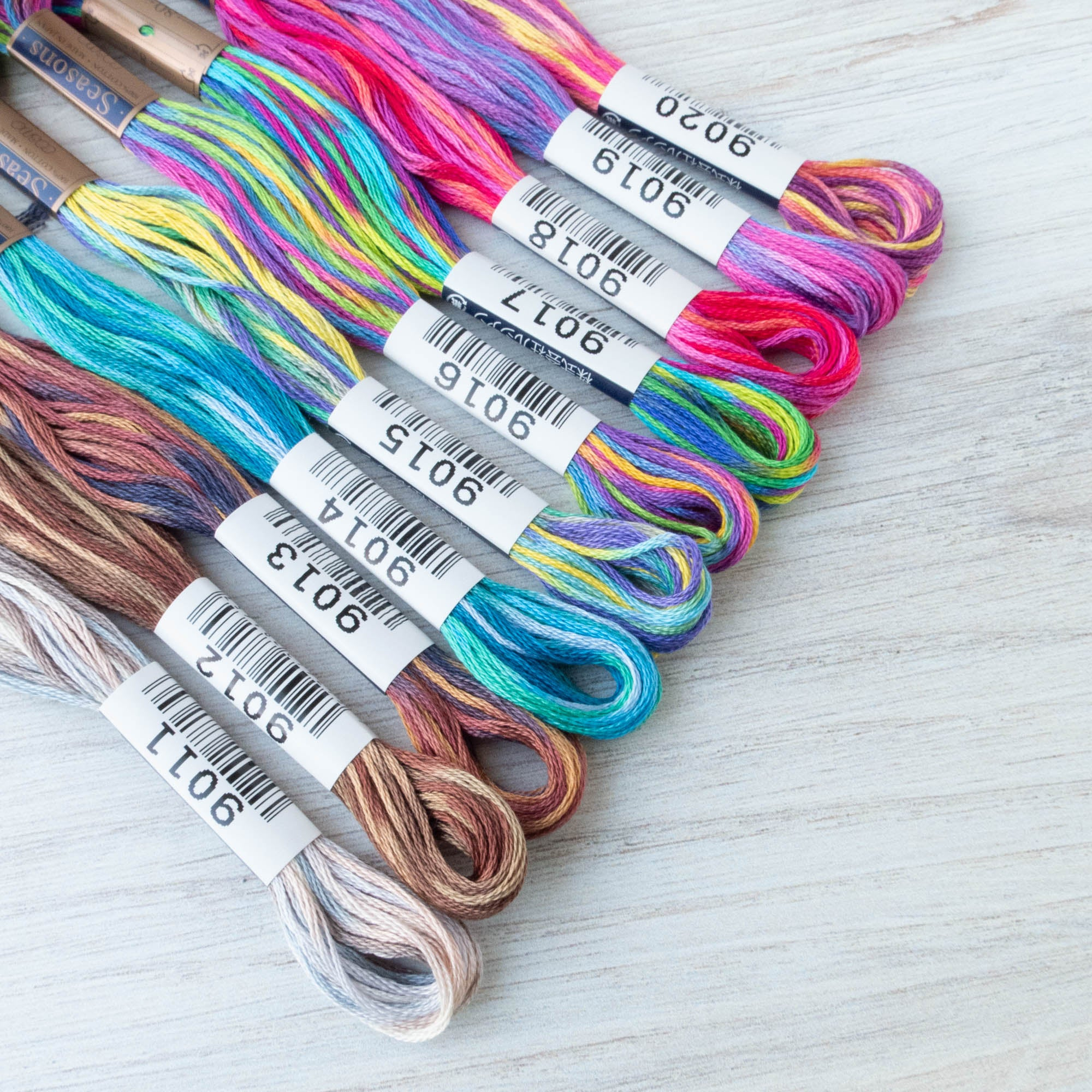 Cosmo Seasons Variegated Embroidery Floss Set - 9000 Series Collection II Floss - Snuggly Monkey