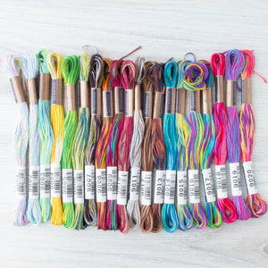 Complete Collection Cosmo Seasons Variegated Embroidery Floss Set - 9000 Series