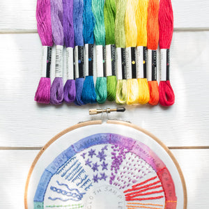 Dropcloth Embroidery Samplers :: Color Wheel