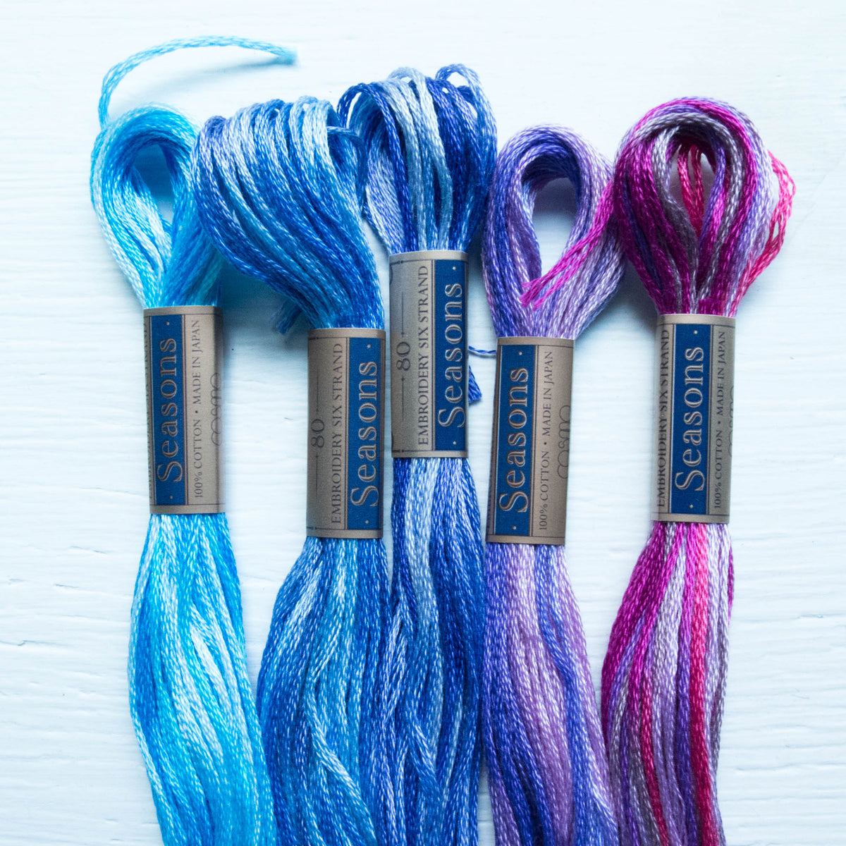 COSMO Seasons Variegated Embroidery Floss - 5021, 5022, 5023, 5024, 5025 Floss - Snuggly Monkey