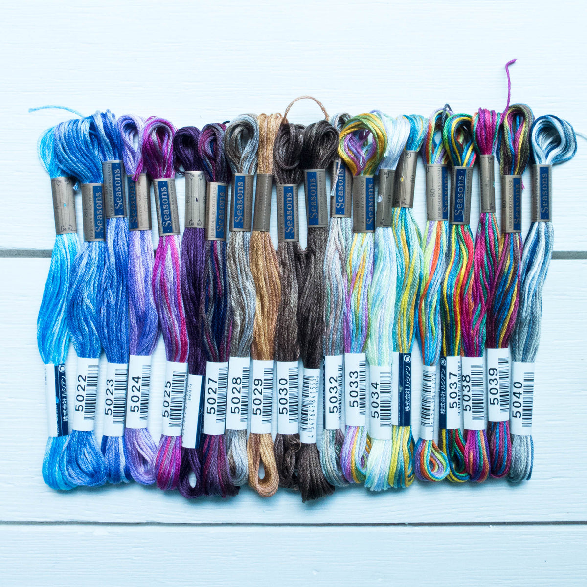 Cosmo Seasons Variegated Embroidery Floss Set - 5021-5040 Floss - Snuggly Monkey