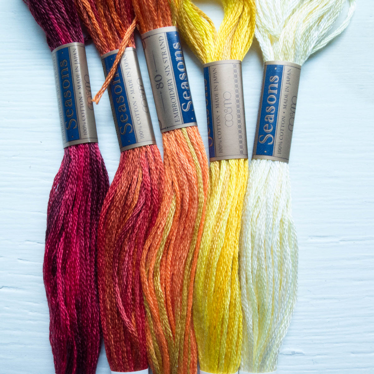COSMO Seasons Variegated Embroidery Floss - 5006, 5007, 5008, 5009, 5010 Floss - Snuggly Monkey
