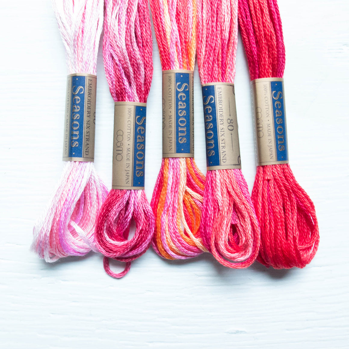 COSMO Seasons Variegated Embroidery Floss - 5001, 5002, 5003, 5004, 5005 Floss - Snuggly Monkey
