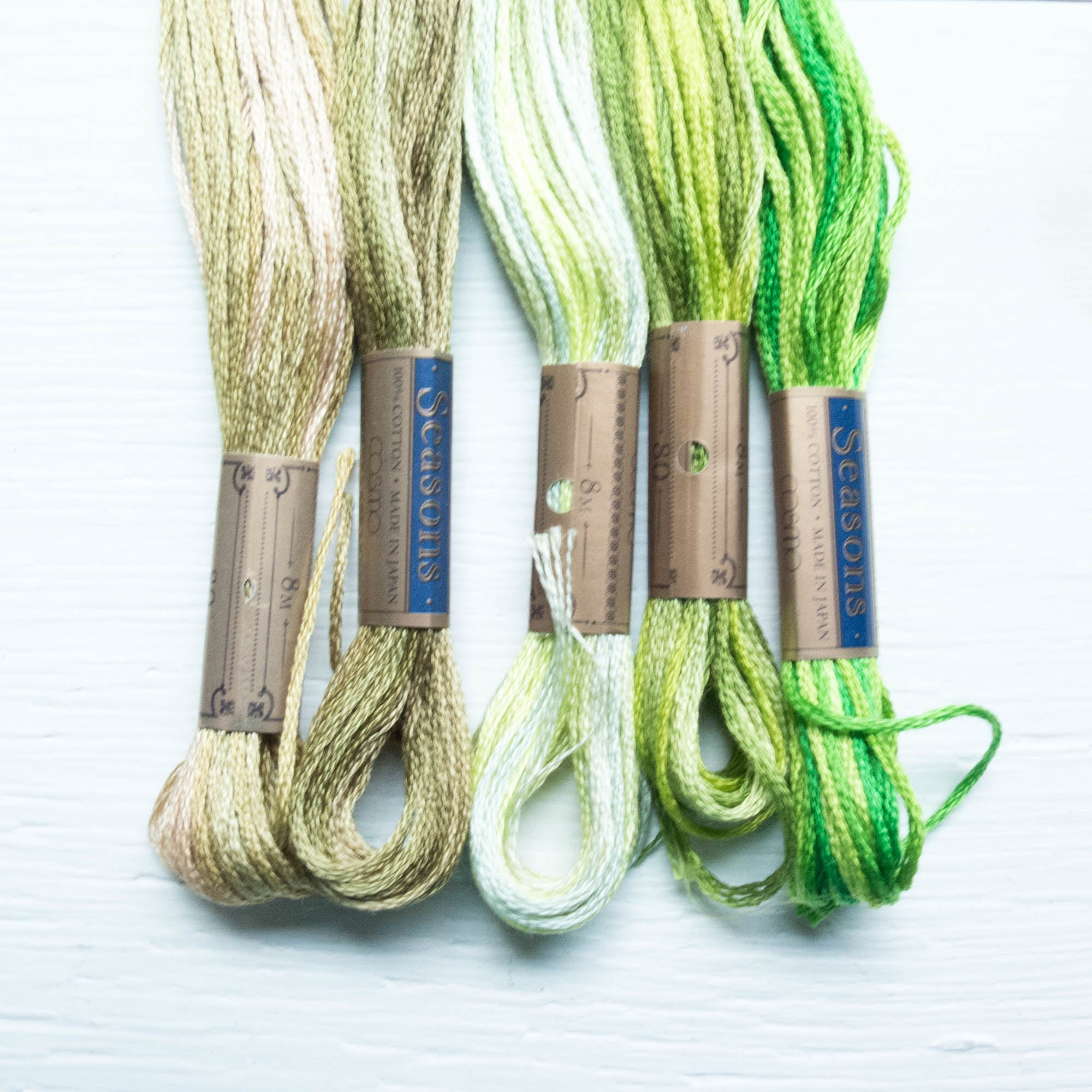 COSMO Seasons Variegated Embroidery Floss - 5011, 5012, 5013, 5014, 5015 Floss - Snuggly Monkey