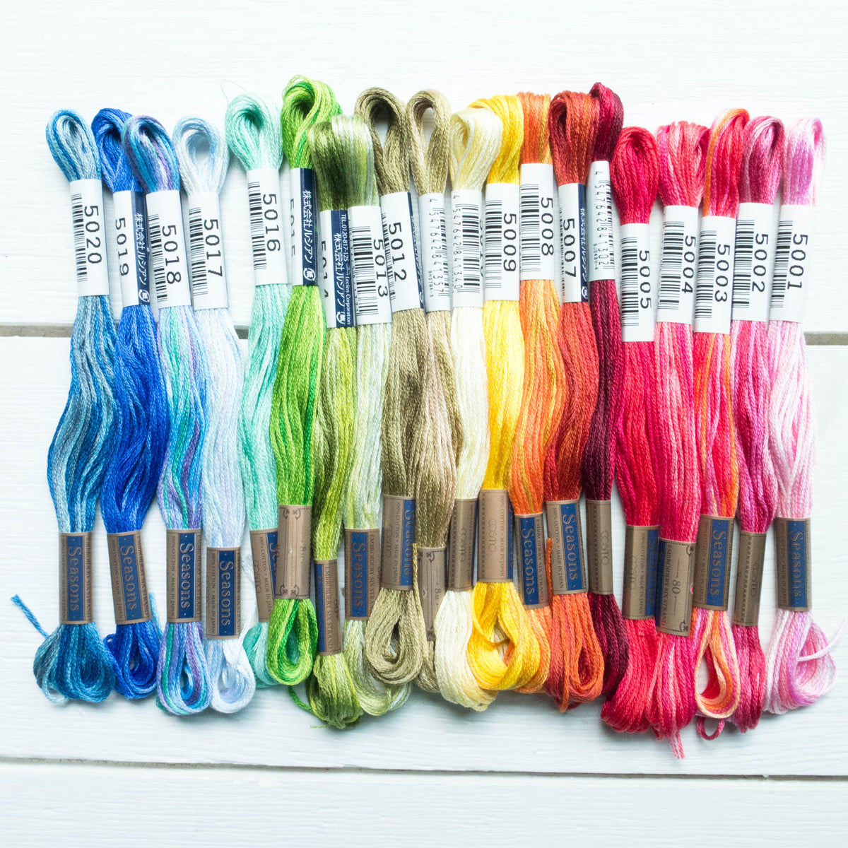 Cosmo Seasons Variegated Embroidery Floss Set - Rainbow Floss - Snuggly Monkey