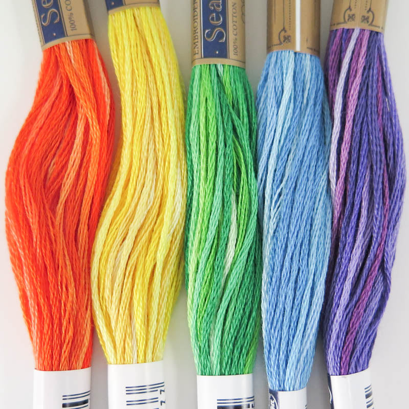 Cosmo Seasons Embroidery Floss Set - Rainbow Floss - Snuggly Monkey