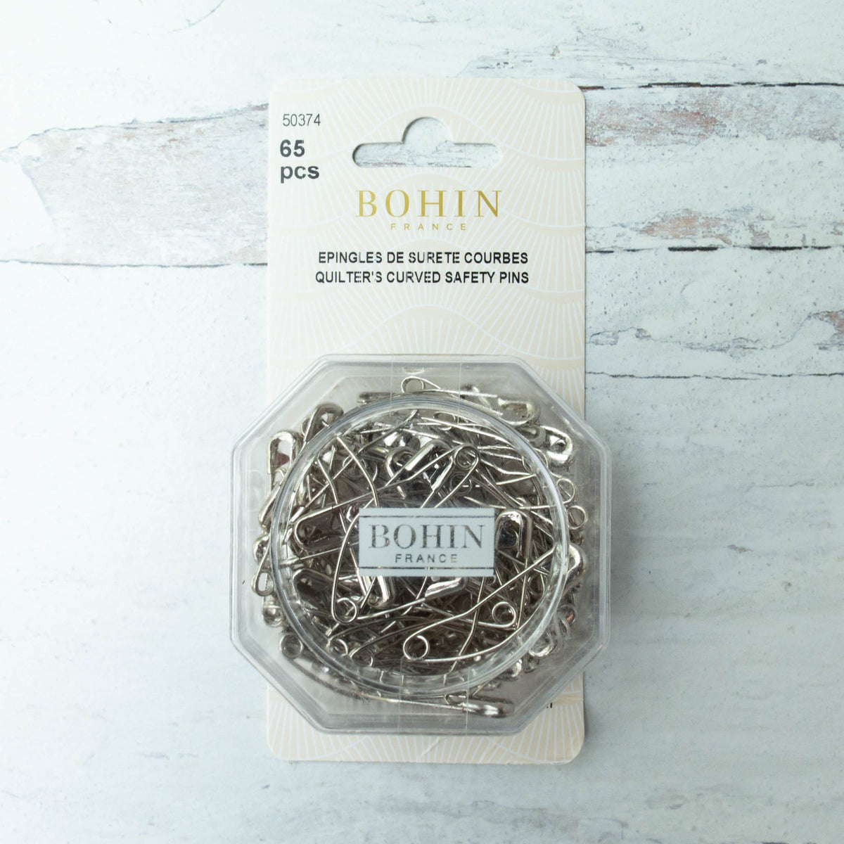 Bohin Curved Safety Pins (Size 2)