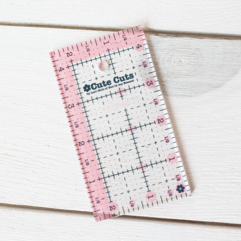"Cute Cut Rectangle Ruler - 2.5"" x 4.5"" Notions - Snuggly Monkey"