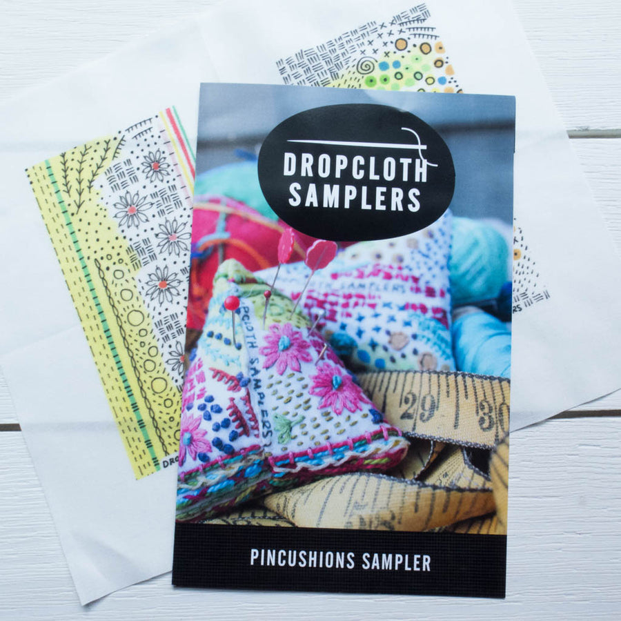 Dropcloth Embroidery Samplers :: Pincushion Sampler Patterns - Snuggly Monkey