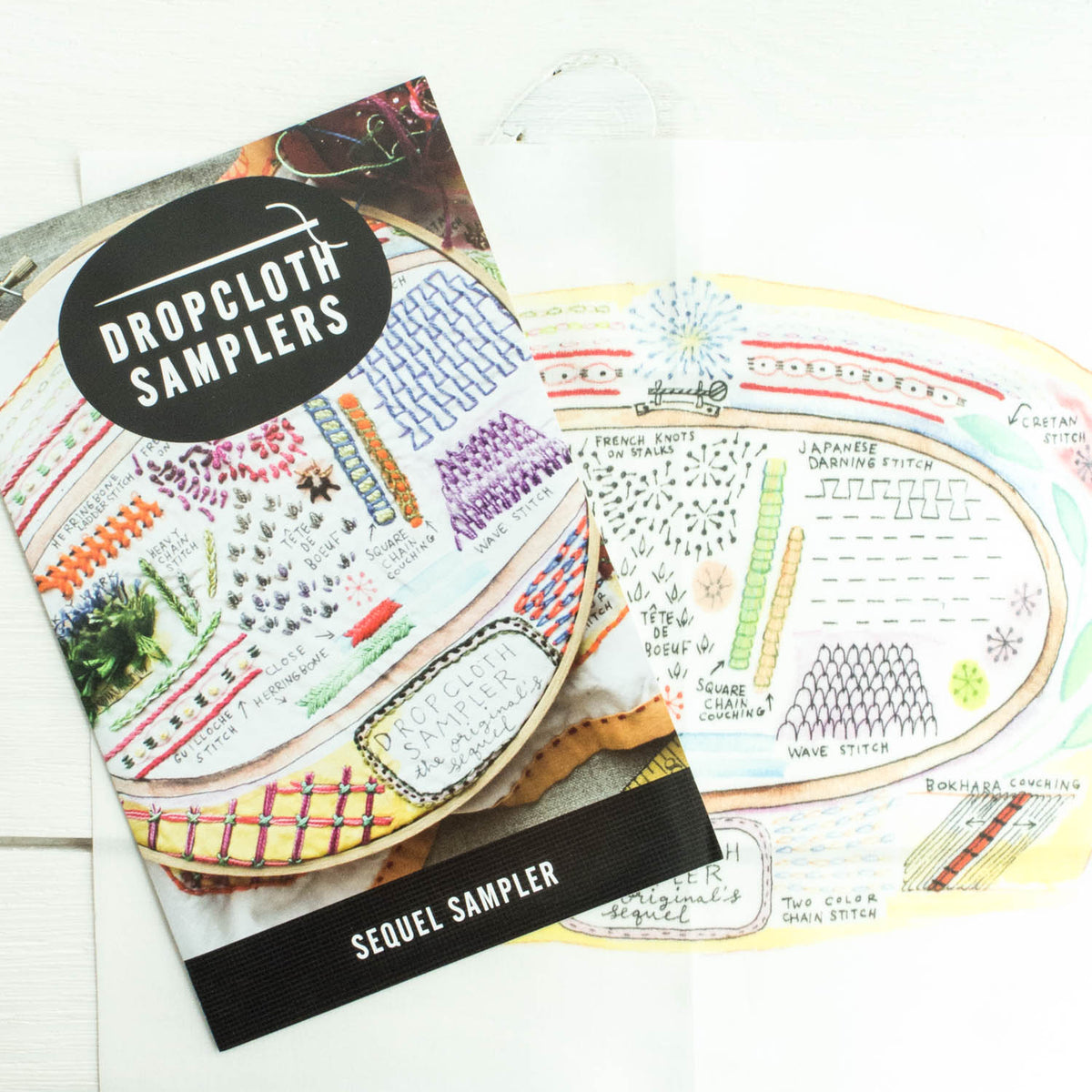 Dropcloth Embroidery Samplers :: Sequel Sampler Patterns - Snuggly Monkey