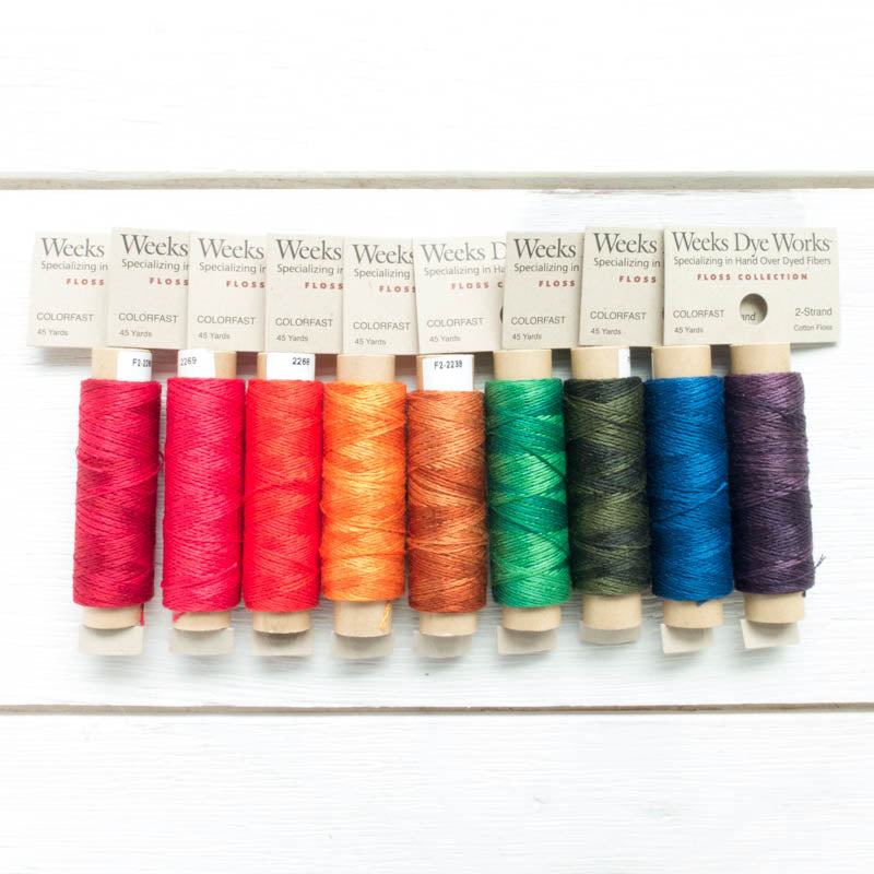 Dropcloth Samplers Weeks Dye Works 2 Strand Floss Collection