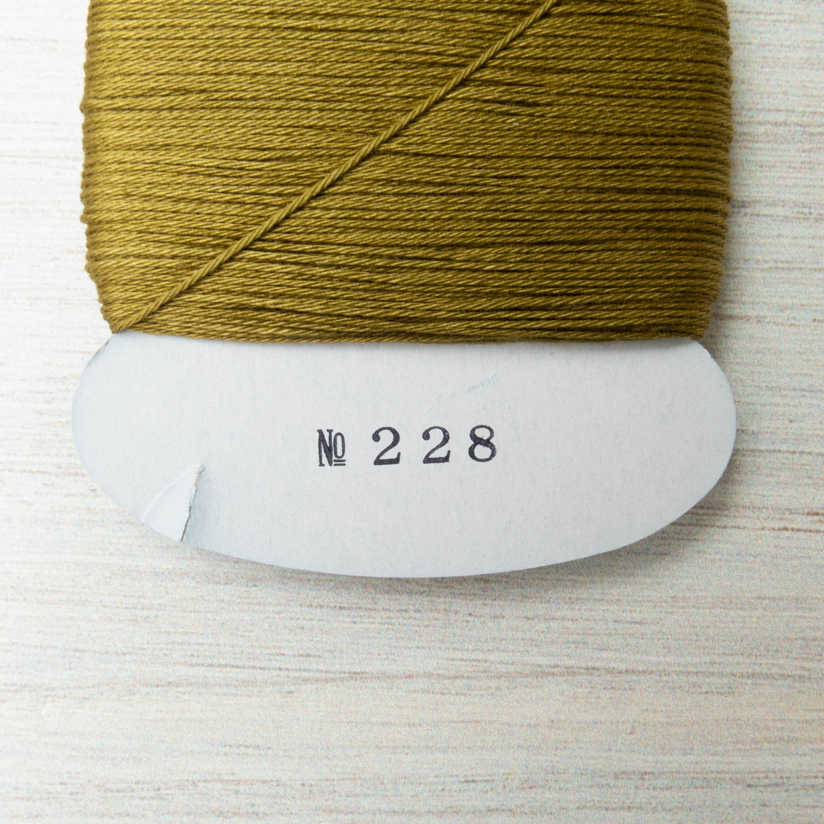 Daruma Carded Sashiko Thread - Uguisu (no. 228)