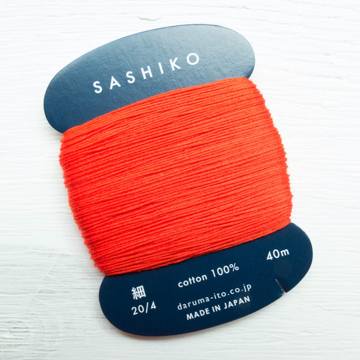 Daruma Carded Sashiko Thread - Bright Red (no. 212) Sashiko - Snuggly Monkey