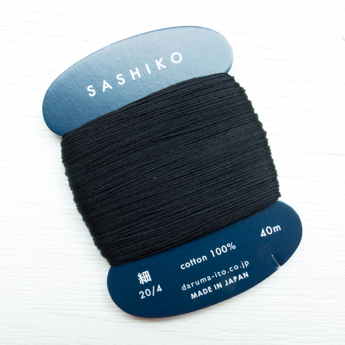 Daruma Carded Sashiko Thread - Black (no. 219) Sashiko - Snuggly Monkey