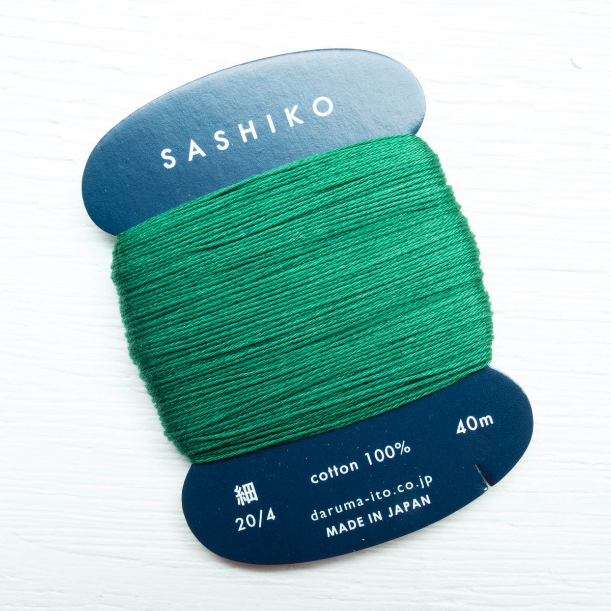 Daruma Carded Sashiko Thread - Hunter Green (no. 208) Sashiko - Snuggly Monkey