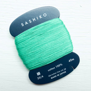 Daruma Carded Sashiko Thread - Emerald (no. 207) Sashiko - Snuggly Monkey