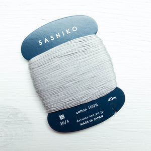 Daruma Carded Sashiko Thread - Gray (no. 217) Sashiko - Snuggly Monkey