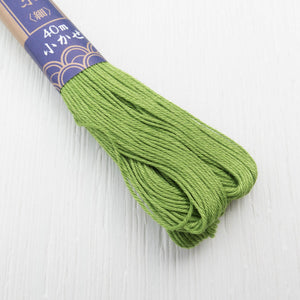 Yokota Sashiko Thread - Fern Green (#24) Sashiko - Snuggly Monkey