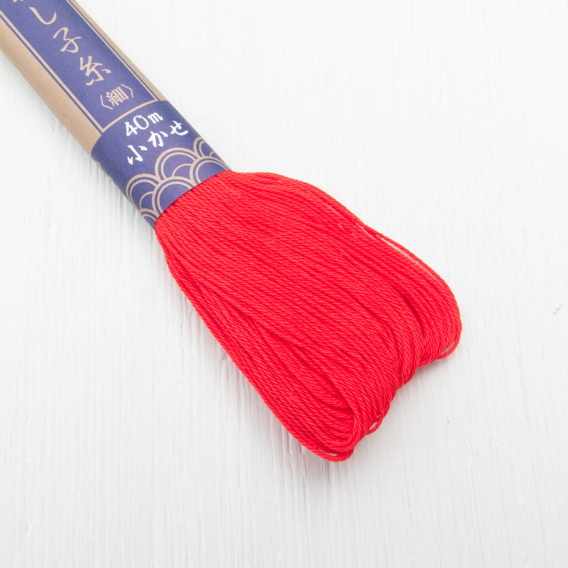 Daruma Sashiko Thread - Bright Red (#16) Sashiko - Snuggly Monkey