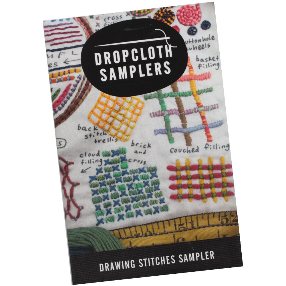 Dropcloth Embroidery Samplers :: Drawing Stitches Patterns - Snuggly Monkey