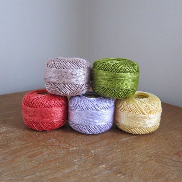 Dusty Spring Pearl Cotton Thread Collection