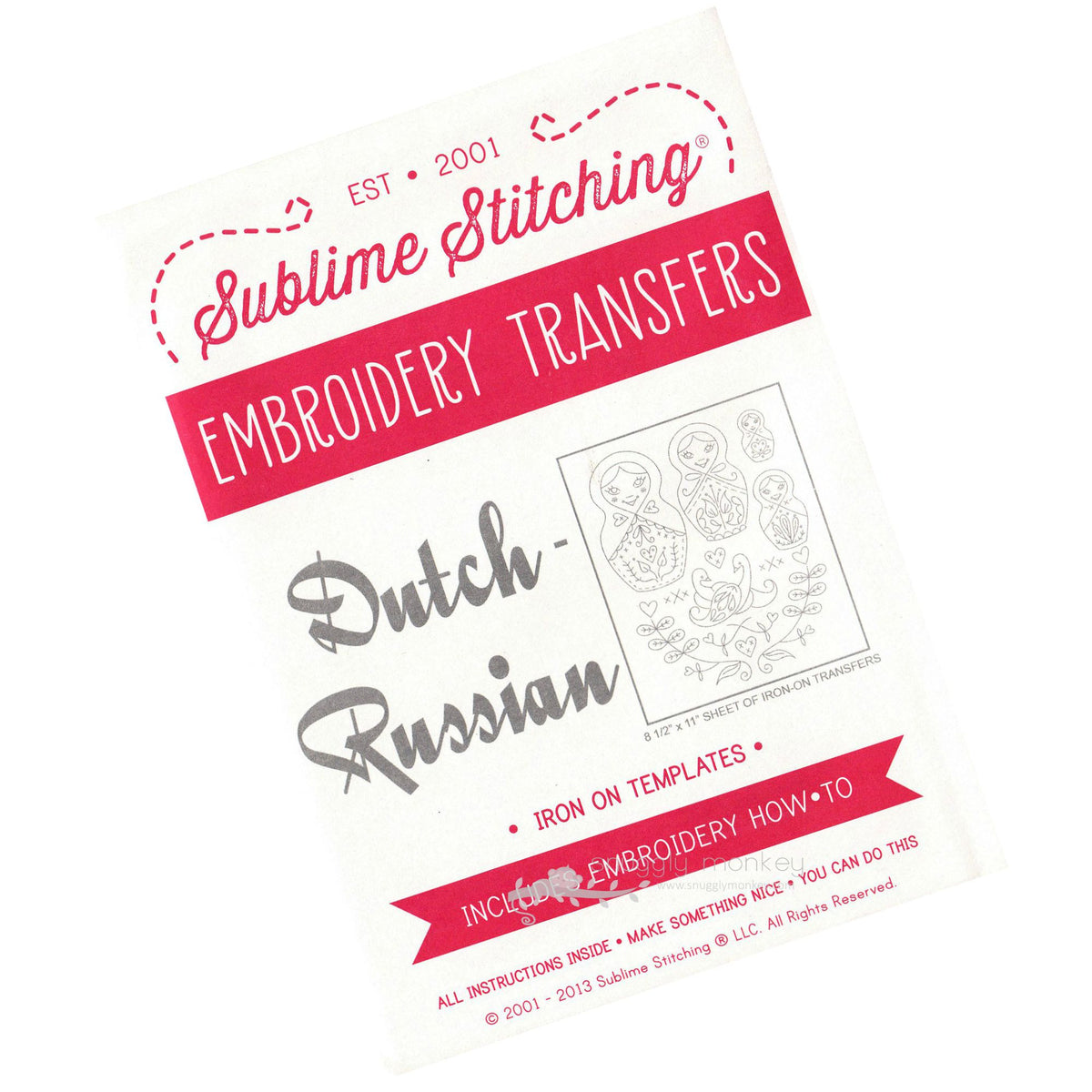 Sublime Stitching Dutch Russian Hand Embroidery Pattern Patterns - Snuggly Monkey