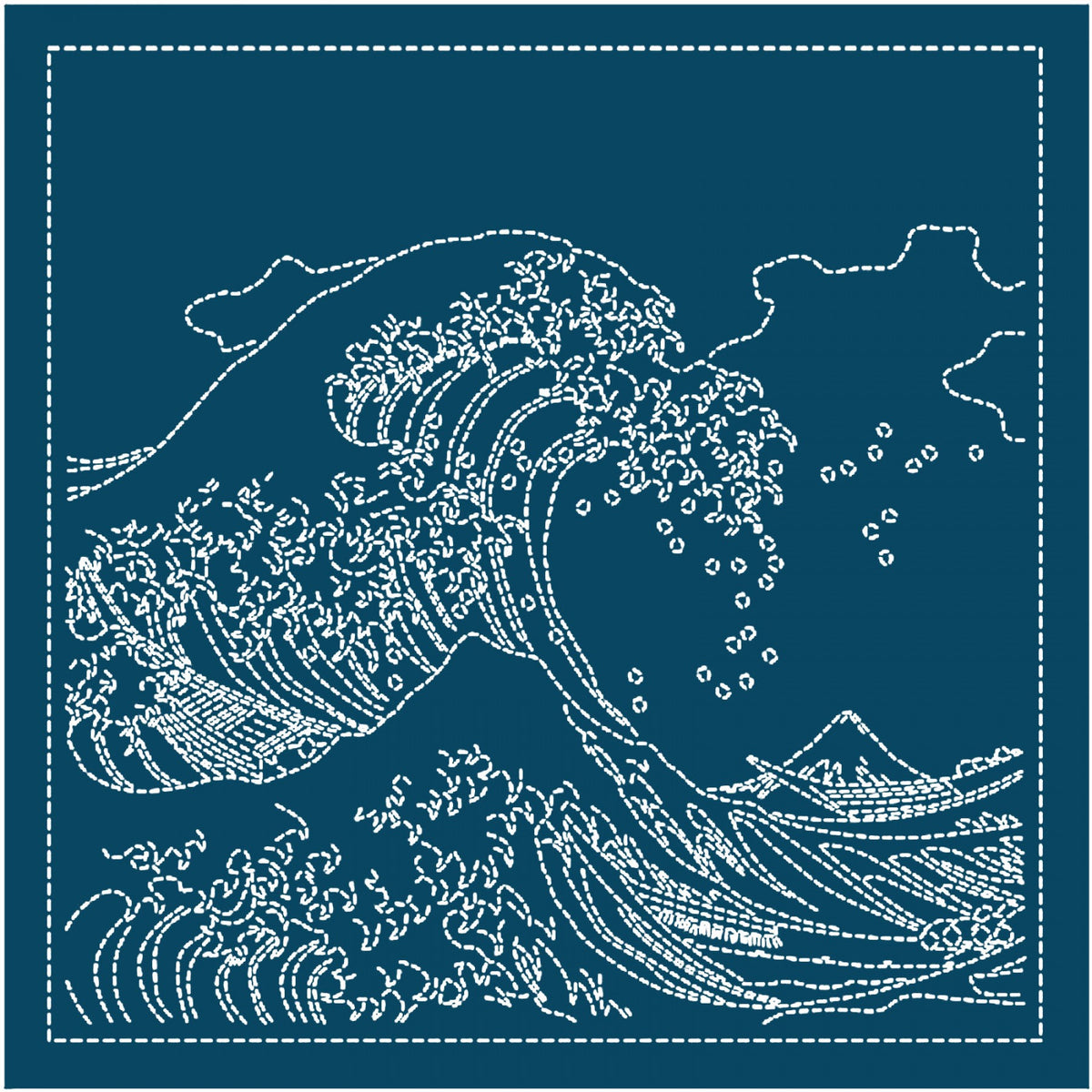 The Great Wave of Kanagawa Sashiko Sampler (2094)
