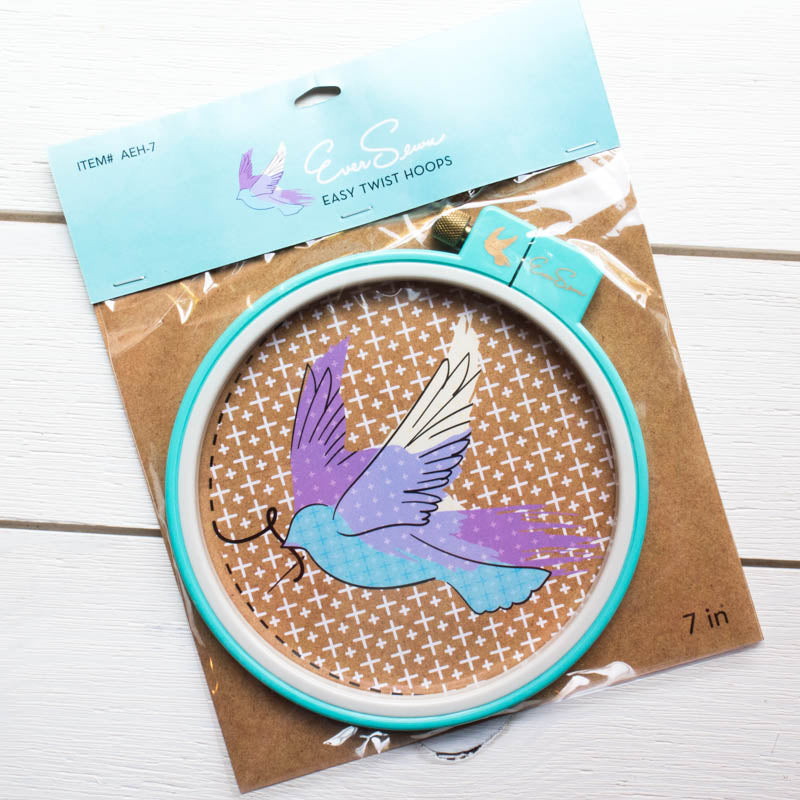 EverSewn 7 inch Easy Twist Embroidery Hoop Embroidery Hoops - Snuggly Monkey