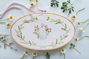 Embroidery Kit : Easter Bunny by Tamar Nahir Embroidery Kit - Snuggly Monkey