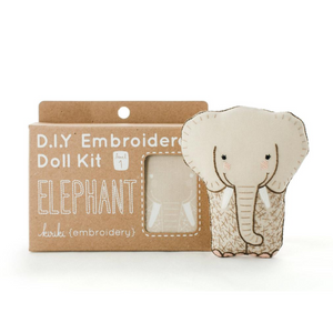 Elephant Plushie Embroidery Kit by Kiriki Press Embroidery Kit - Snuggly Monkey