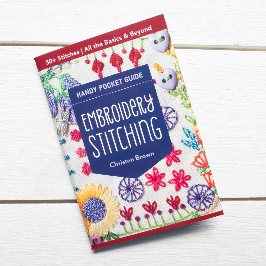 Embroidery Stitches Handy Pocket Guide Patterns - Snuggly Monkey