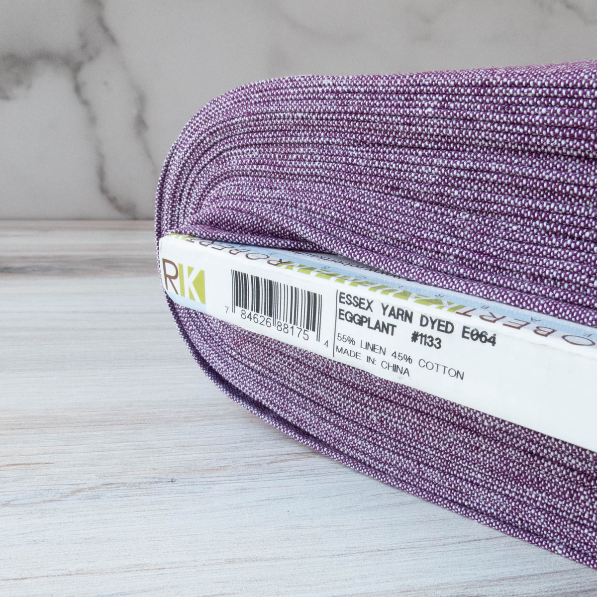 Essex Yarn Dyed - Eggplant (E064-1133) Fabric - Snuggly Monkey