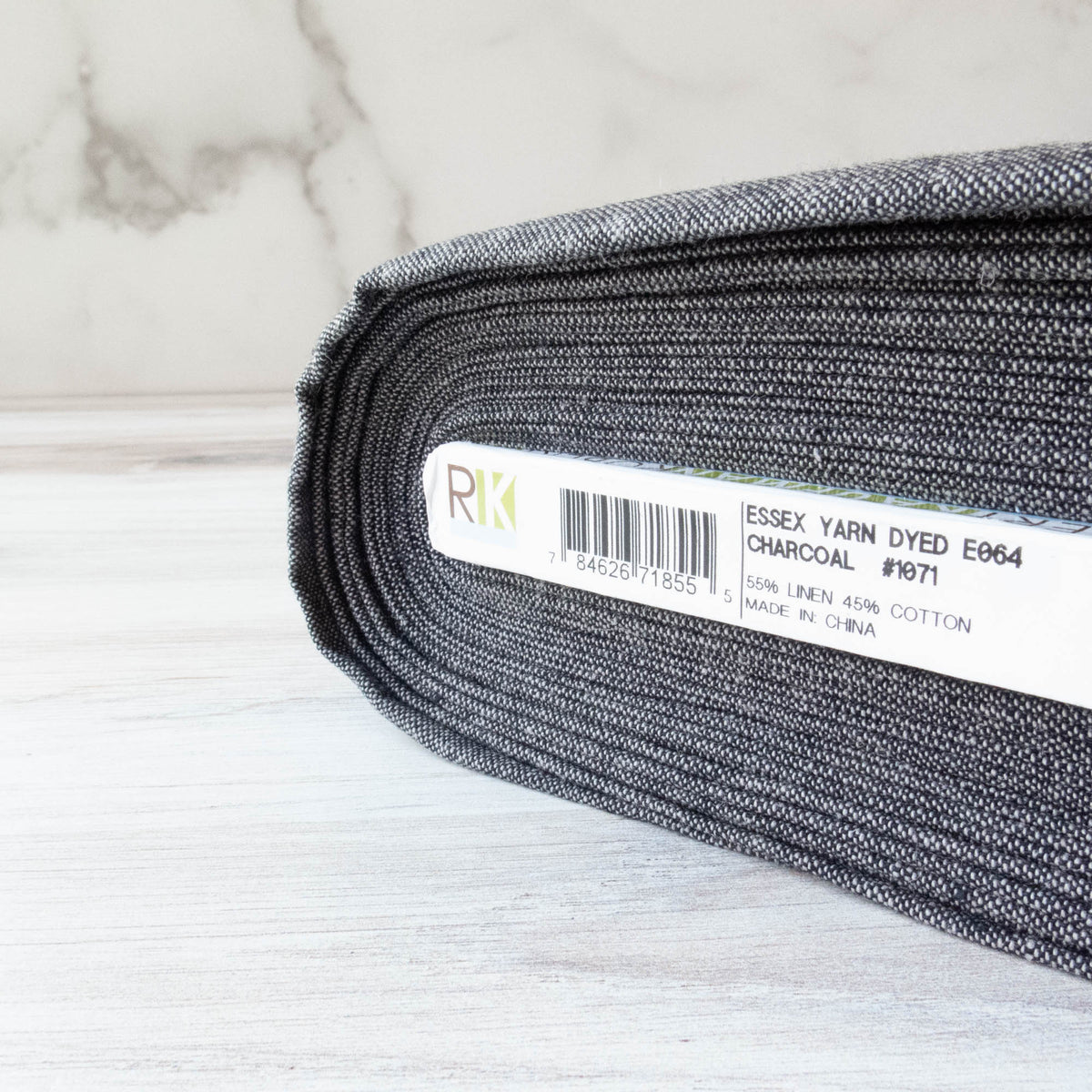Essex Yarn Dyed - Charcoal (E064-1071) Fabric - Snuggly Monkey