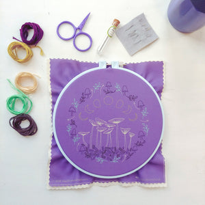 Cozyblue Fairy Ring Modern Embroidery Kit Embroidery Kit - Snuggly Monkey