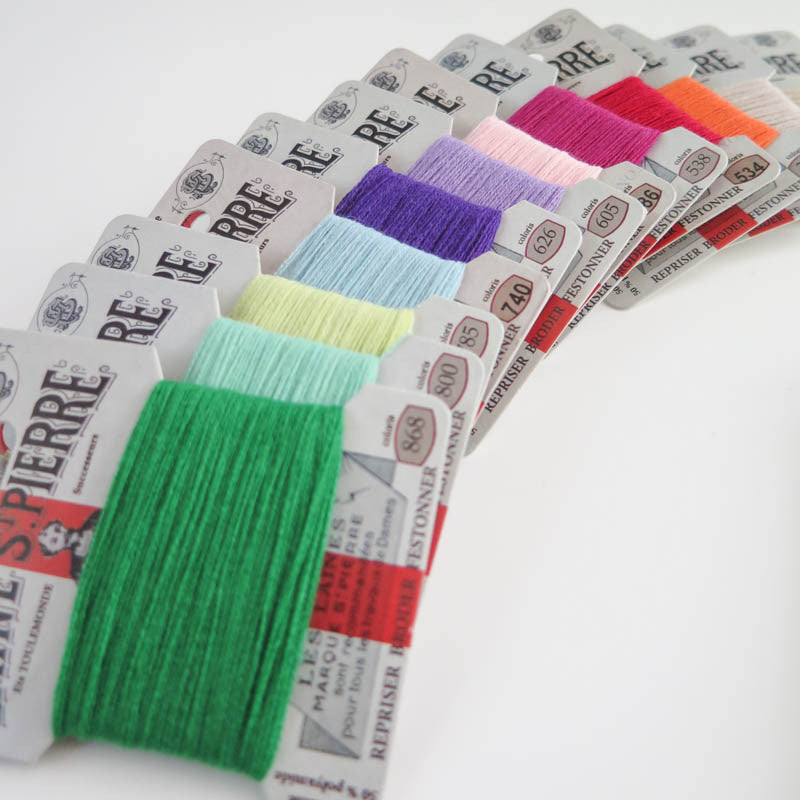 Laine St. Pierre Wool Thread Set - Modern Colors Floss - Snuggly Monkey