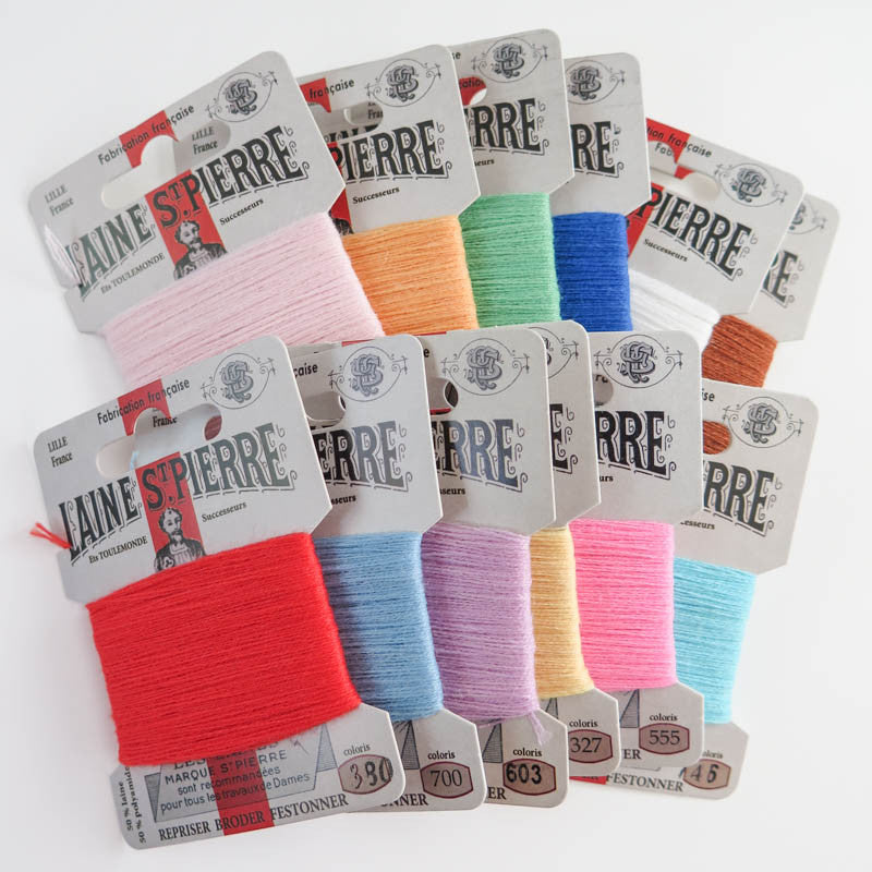 Laine St. Pierre Wool Thread Set - Spring Colors Floss - Snuggly Monkey
