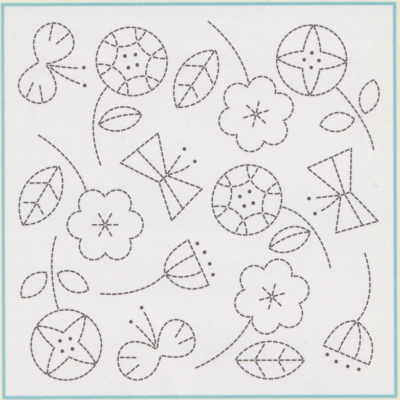 Sashiko Kit - Flower (No H1028)