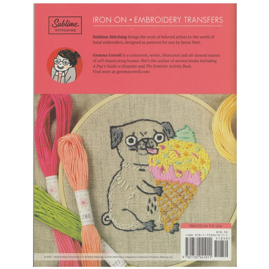 Gemma Correll Embroidery Pattern Portfolio Patterns - Snuggly Monkey