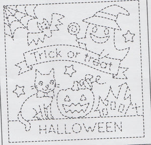 Sashiko Embroidery Kit -Halloween (1023)