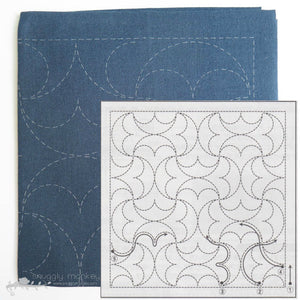 Sashiko Embroidery Kit - Hanmaru (No 2038)