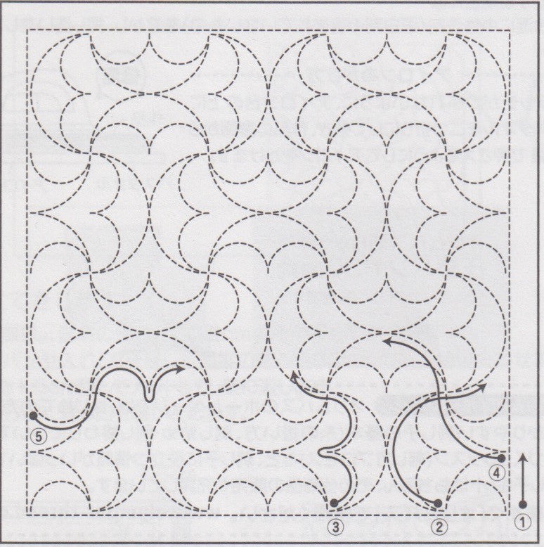 Sashiko Embroidery Kit - Hanmaru (No 2038) Sashiko - Snuggly Monkey