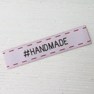 Woven Labels - #Handmade Labels - Snuggly Monkey