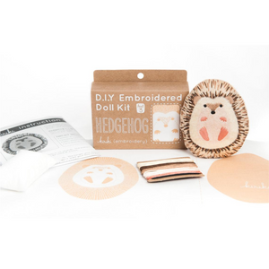 Kiriki Press Hedgehog Embroidery Kit Embroidery Kit - Snuggly Monkey