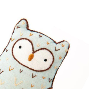 Horned Owl Plushie Embroidery Kit by Kiriki Press
